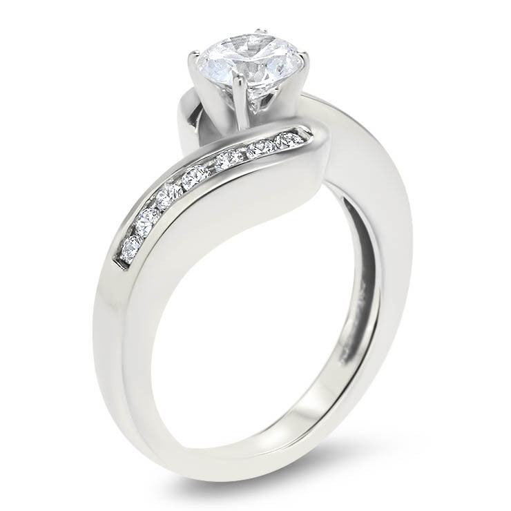 Diamond Channel Set Engagement Ring And Wedding Band Gloria