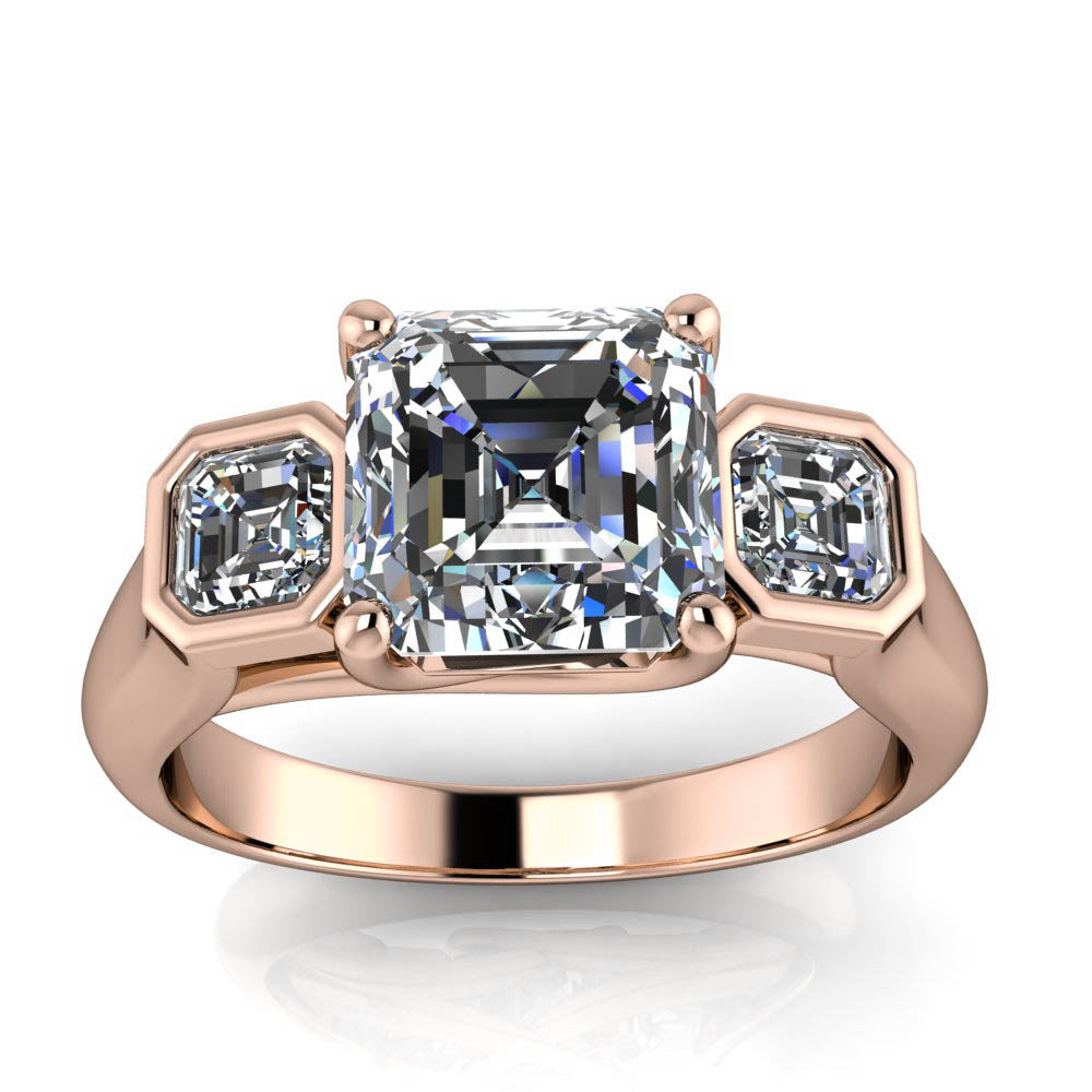 engagement cut of dublin asscher diamond weldons rings ring shop