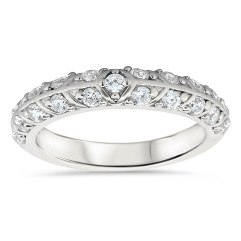 Unique Diamond Wedding Band - Branch Band