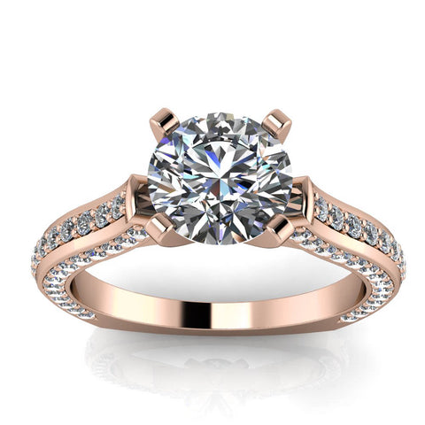 Euro Shank Engagement Ring - Joanna - Moissanite Rings