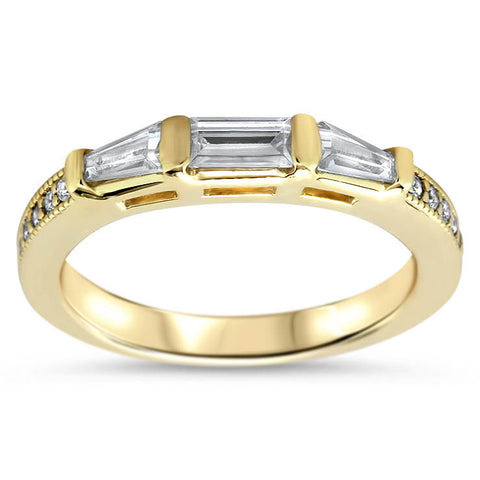 Diamond Baguette Wedding Band - Maxine WB