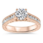 Channel Set Engagement Ring Moissanite Engagement Ring  - Channel 12 - Moissanite Rings