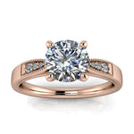 Vintage Style Engagement Ring - Adam - Moissanite Rings