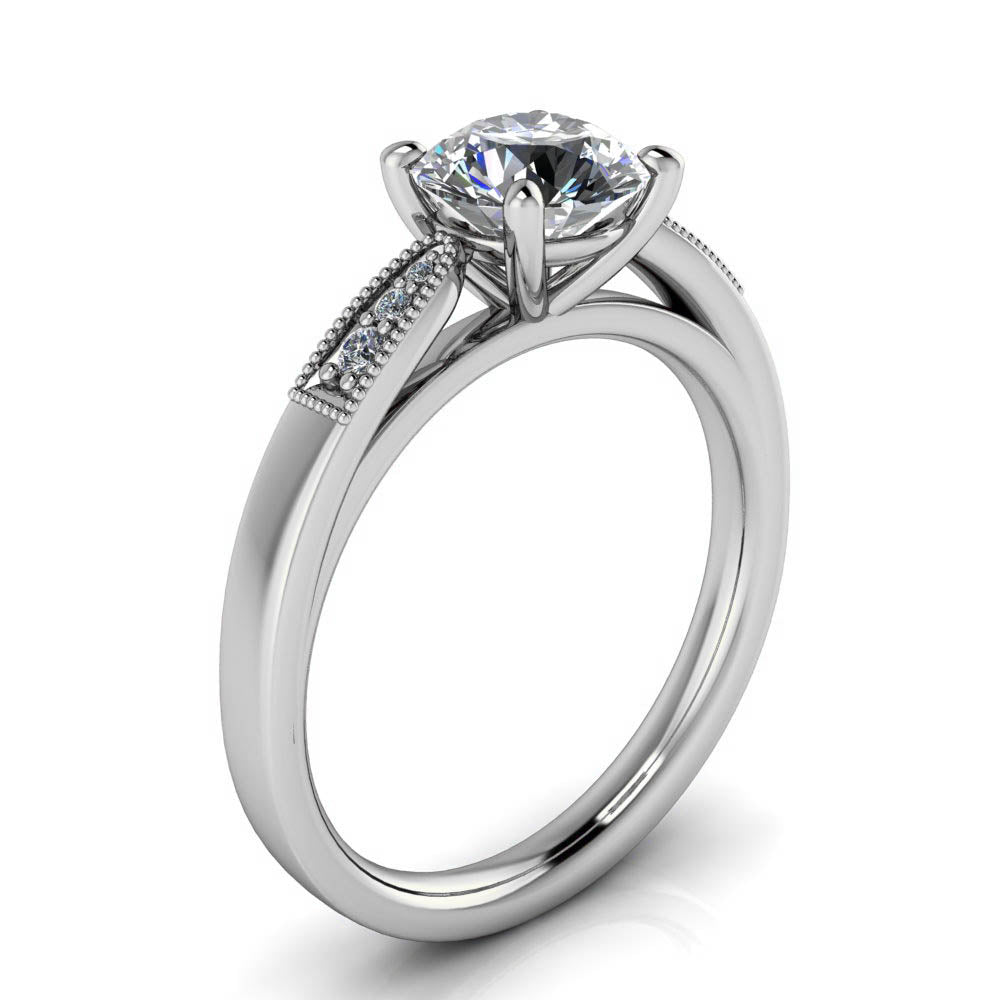 Vintage Style Engagement Ring - Adam