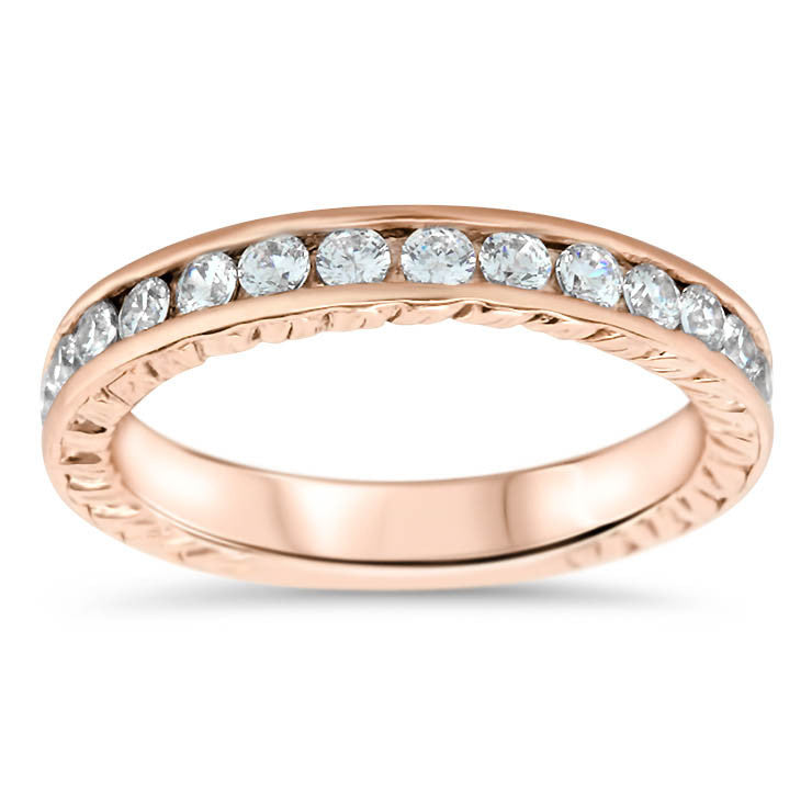 Channel 8 Wedding Band - Moissanite Rings