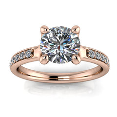 Forever One Moissanite Diamond Engagement Ring - Adeline - Moissanite Rings