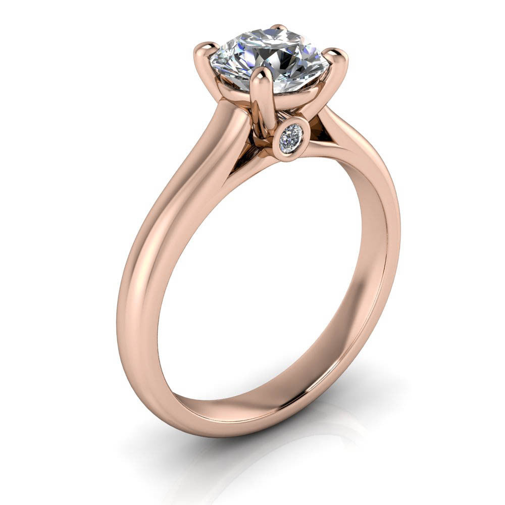 Forever One Solitaire Engagement Ring - Gigi - Moissanite Rings