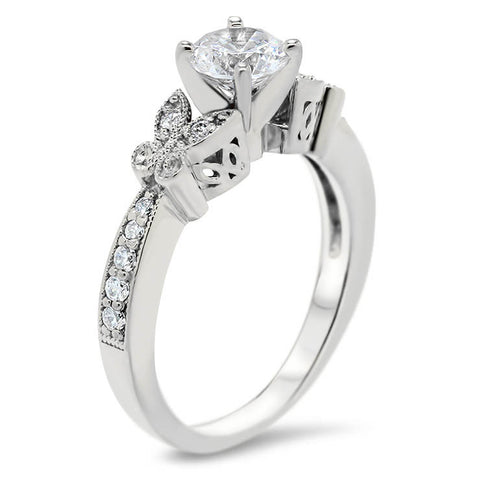 Butterfly Engagement Ring - Butterfly Kisses