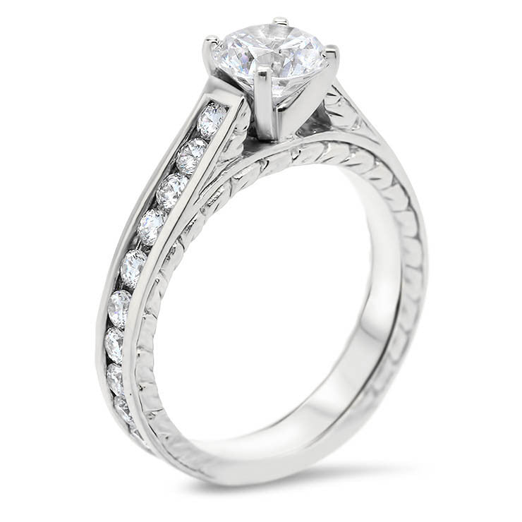 Channel Set Engagement Ring Moissanite Engagement Ring  - Channel 8