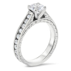Channel Set Engagement Ring Moissanite Engagement Ring  - Channel 8 - Moissanite Rings