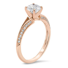Split Shank Knife Edge Engagement Ring - Kourt - Moissanite Rings