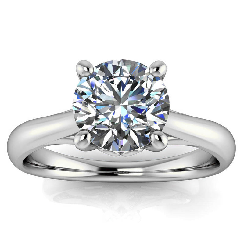 Moissanite Engagement Ring Solitaire Engagement Ring - Selma - Moissanite Rings