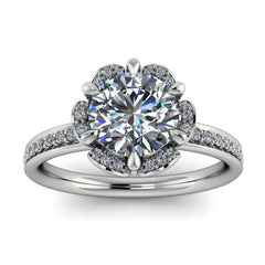 Floral Style Moissanite Engagement RIng Moissanite Diamond Setting - Blissful - Moissanite Rings