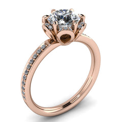 Floral Style Moissanite Engagement RIng Moissanite Diamond Setting - Blissful