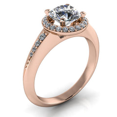 Halo Engagement Ring - Calla - Moissanite Rings