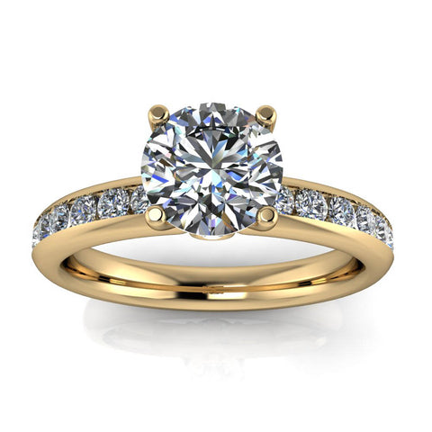 Moissanite Engagement Ring Diamond Setting - Apolina - Moissanite Rings
