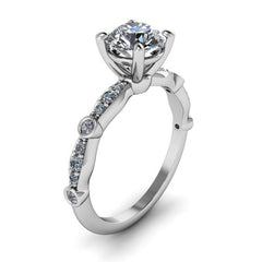 Moissanite Engagement Ring Diamond Setting - Hope - Moissanite Rings