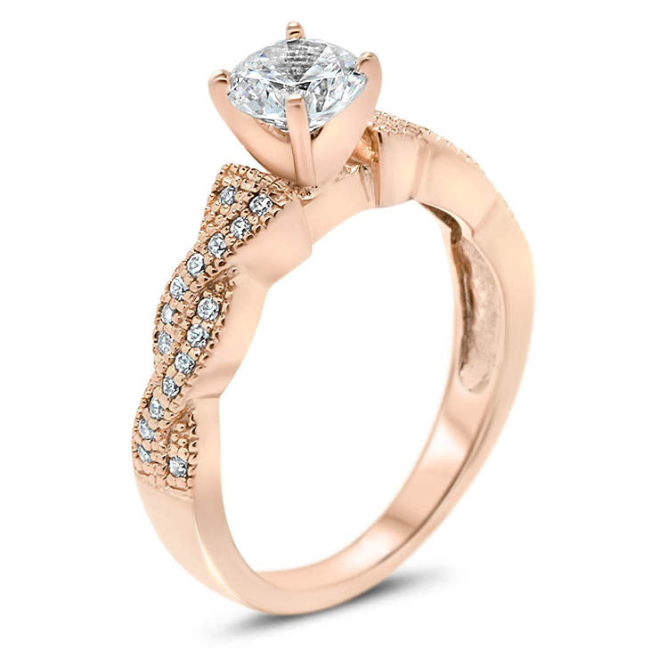 Regina Wedding Set - Moissanite Rings