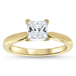 1.7ct Princess Cut Solitaire Moissanite Ring Engagement Ring - Jem - Moissanite Rings