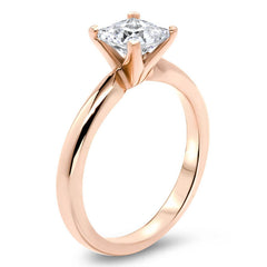 Princess Cut Solitaire Moissanite Ring Engagement Ring - Jem - Moissanite Rings