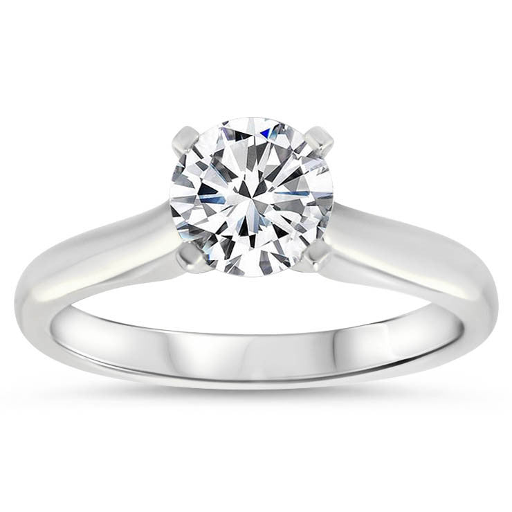 Classic Solitaire Forever One Moissanite Engagement Ring - Taylor - Moissanite Rings
