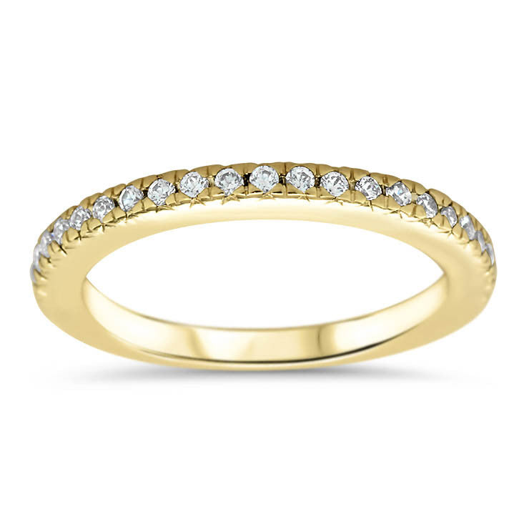 Thin Diamond Wedding Band - Veep Band - Moissanite Rings