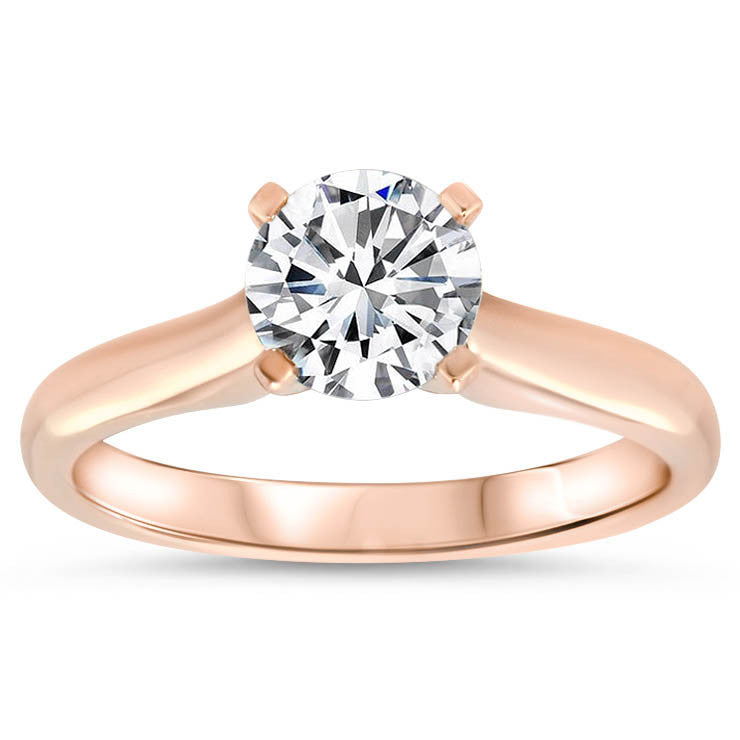 Classic Solitaire Forever One Moissanite Engagement Ring 9.5 mm - Taylor - Moissanite Rings