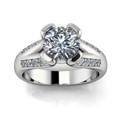 Split Euro Shank Engagement Ring - Charlotte