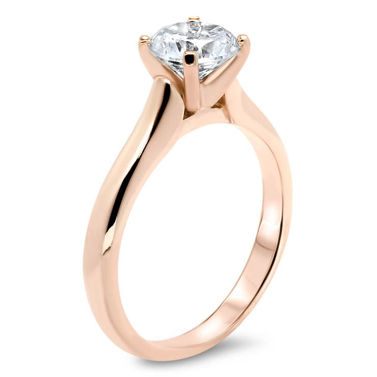 Classic Solitaire Forever One Moissanite Engagement Ring 9 mm - Taylor - Moissanite Rings