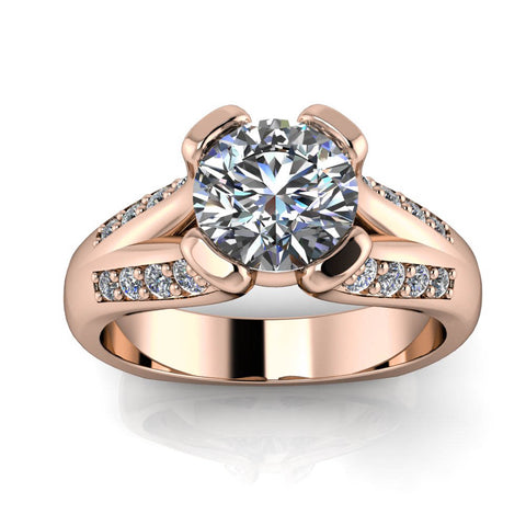 Split Euro Shank Engagement Ring - Charlotte - Moissanite Rings