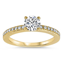 Thin Diamond Band Wedding Set - Veep Set - Moissanite Rings