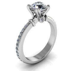 Moissanite and Diamond Engagement Ring Forevr One - Foila - Moissanite Rings