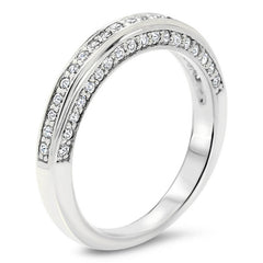Diamond Wedding  Band - Chilly - Moissanite Rings