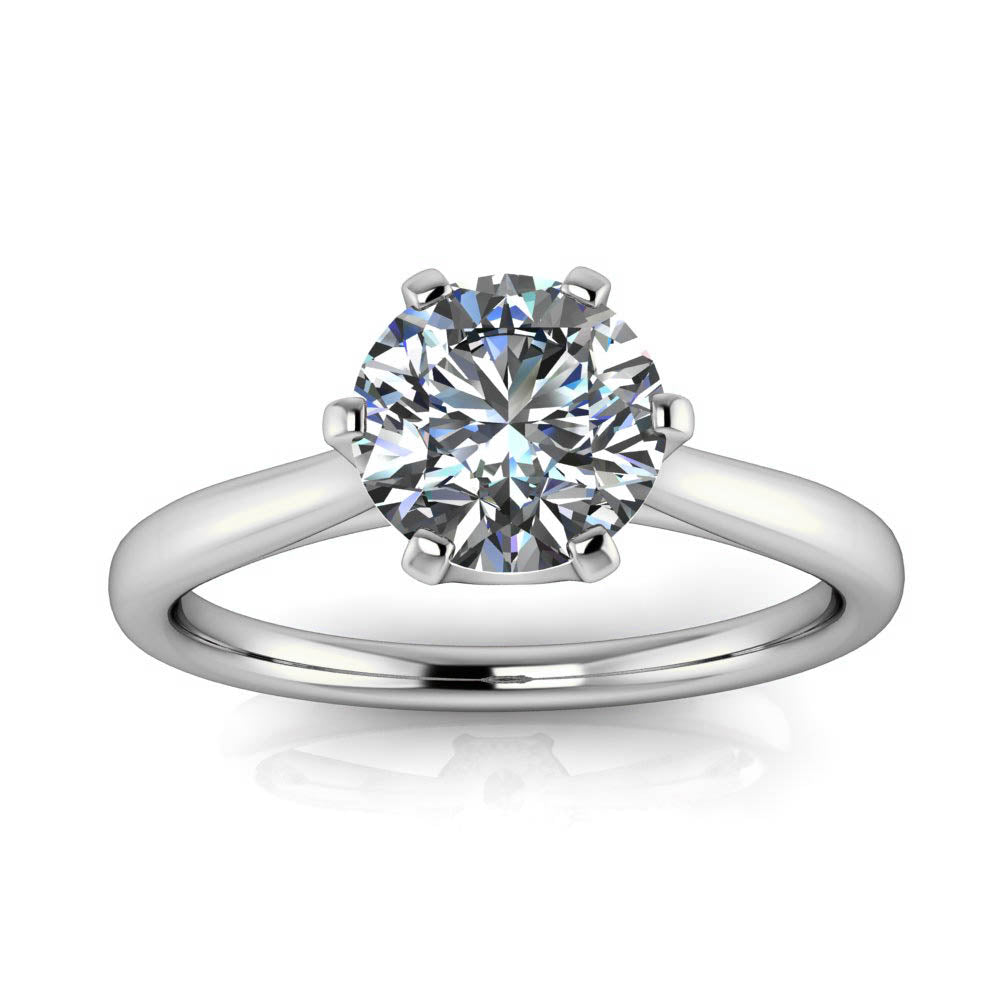 Engagement Rings With Moissanite: Unique Solitaire Engagement Ring Moissanite
