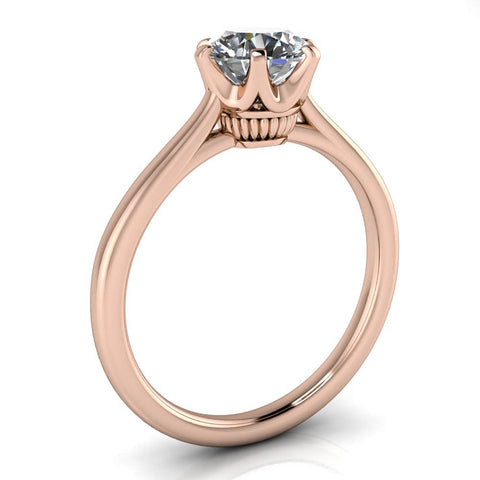 Unique Solitaire Engagement Ring Moissanite - Andi - Moissanite Rings