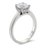 Banded Solitaire Moissanite Engagement Ring - Sienna - Moissanite Rings