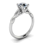 Twisted Band Solitaire Engagement Ring Moissanite Engagement Ring - Wild - Moissanite Rings