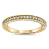 Vintage Style Diamond Band - Roberta Band - Moissanite Rings
