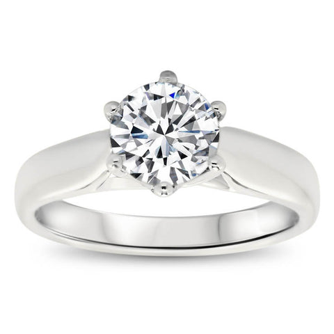 Trellis Set Moissanite Solitaire Engagement Ring  - Stefanie - Moissanite Rings