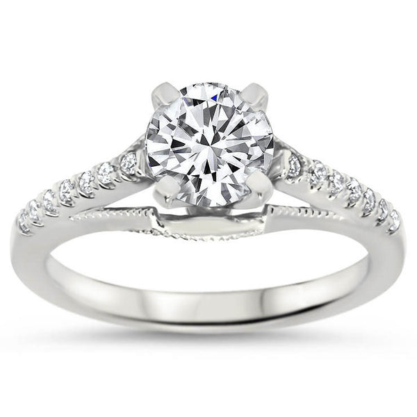 Engagement Rings Vintage Style: Top Quality Vintage Style Engagement Ring Diamond