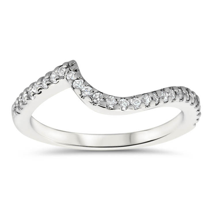 Bypass Wedding Band - Whirlwind Band (Engagement Ring Not Included) - Moissanite Rings