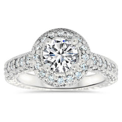 Vintage Style Moissanite Engagement Ring - Joy - Moissanite Rings