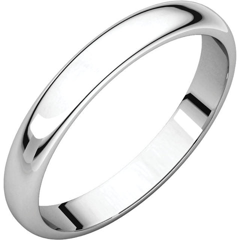 3 mm Comfort Fit Plain Gold Wedding Band - Moissanite Rings