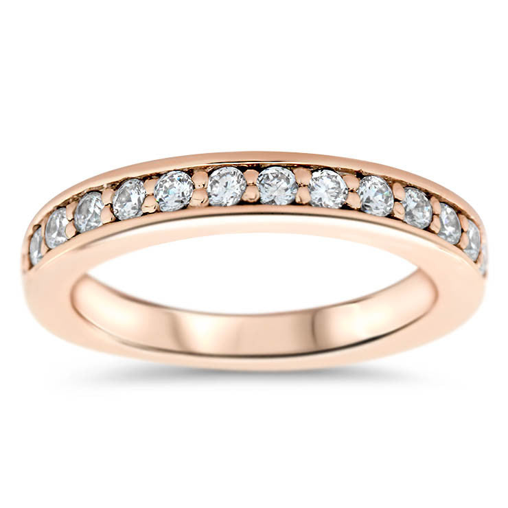 Diamond Wedding Band - On Pointe - Moissanite Rings