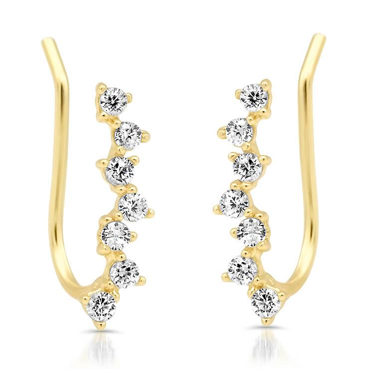 Mini Diamond Climber Earrings