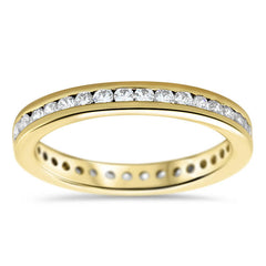 Channel Set Diamond Eternity Band - Channel Petite - Moissanite Rings