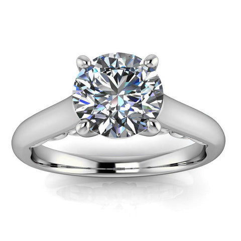 Fancy Solitaire Engagement Ring Moissanite Center Stone - Nan - Moissanite Rings