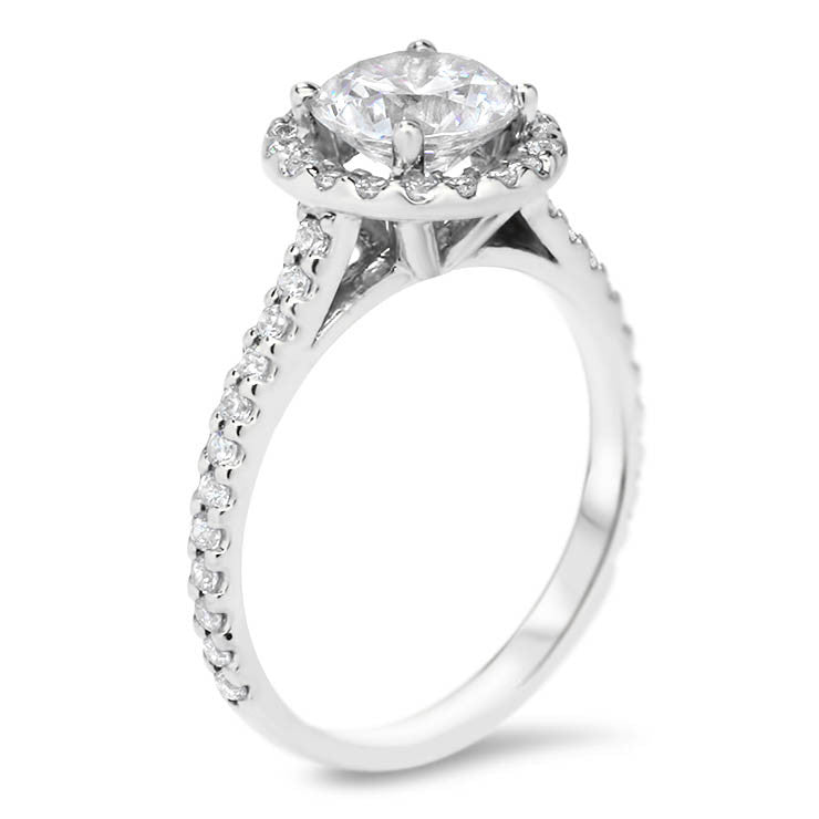 diamond ring gold classic white w prong engagement
