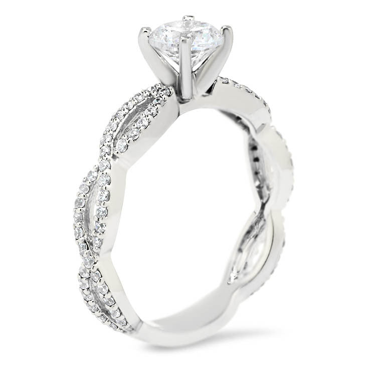 Infinity Style Moissanite Engagement Ring - Indie - Moissanite Rings