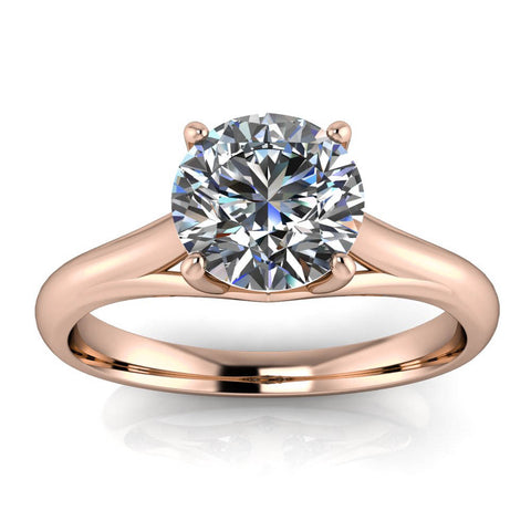 8 mm Solitaire Moissanite Engagement Ring Forever One - Giselle - Moissanite Rings